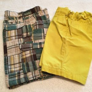Primary Gymboree boys shorts Size 6 green brown